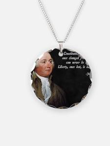 John Adams Constitution Quot Necklace