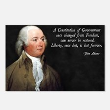 John Adams Constitution Q Postcards (Package of 8)