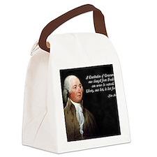 John Adams Constitution Quote Canvas Lunch Bag