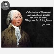 John Adams Constitution Quote Puzzle