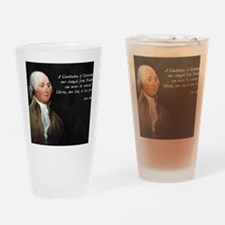 John Adams Constitution Quote Drinking Glass
