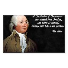 John Adams Constitution Quote Decal