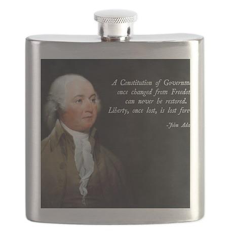 John Adams Constitution Quote Flask