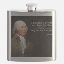 John Adams Constitution Quote Flask