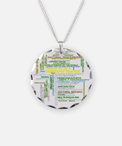 Proud Geography Teacher Necklace