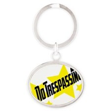 glambert stars no trespassing! Oval Keychain