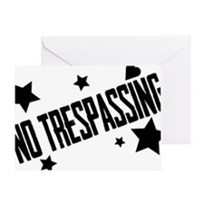 Glambert heart no trespassing! Greeting Card