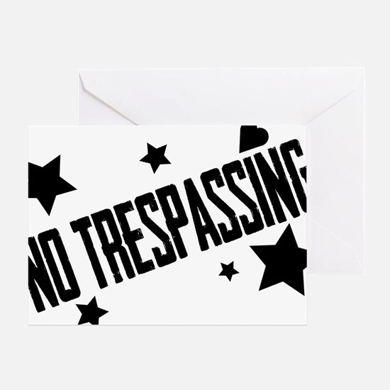 Glambert heart no trespassing! Greeting Card