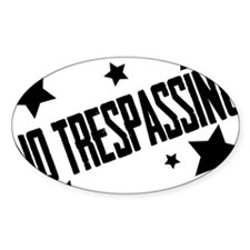 Glambert heart no trespassing! Decal