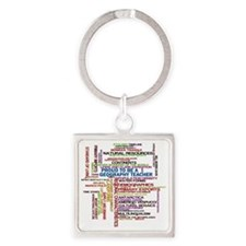 Proud Geography Teacher Square Keychain