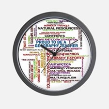 Proud Geography Teacher Wall Clock