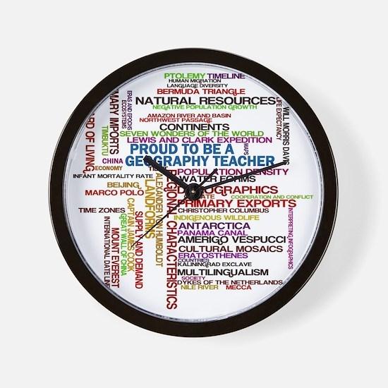 Proud Geography Teacher Wall Clock