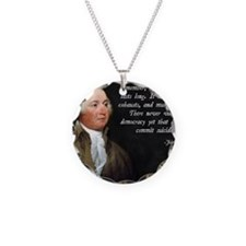John Adams Democracy Necklace