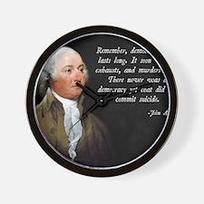 John Adams Democracy Wall Clock
