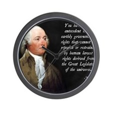 John Adams Rights Wall Clock