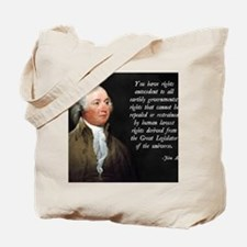 John Adams Rights Tote Bag