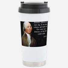 John Adams Democracy Stainless Steel Travel Mug