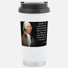 John Adams Rights Stainless Steel Travel Mug