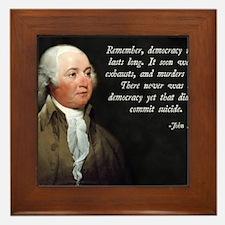 John Adams Democracy Framed Tile