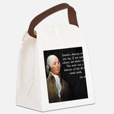 John Adams Democracy Canvas Lunch Bag