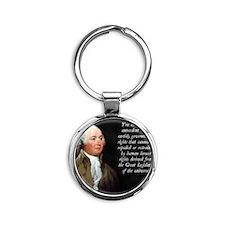 John Adams Rights Round Keychain