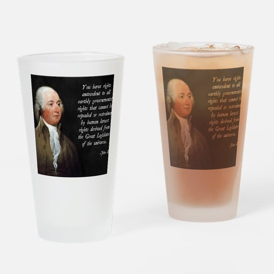 John Adams Rights Drinking Glass