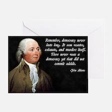 John Adams Democracy Greeting Card