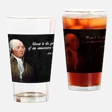 John Adams Anti-War Drinking Glass