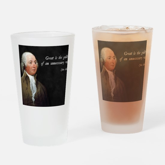John Adams Anti-War Drinking Glass