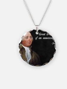 John Adams Anti-War Necklace