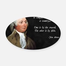John Adams Sword and Debt Oval Car Magnet