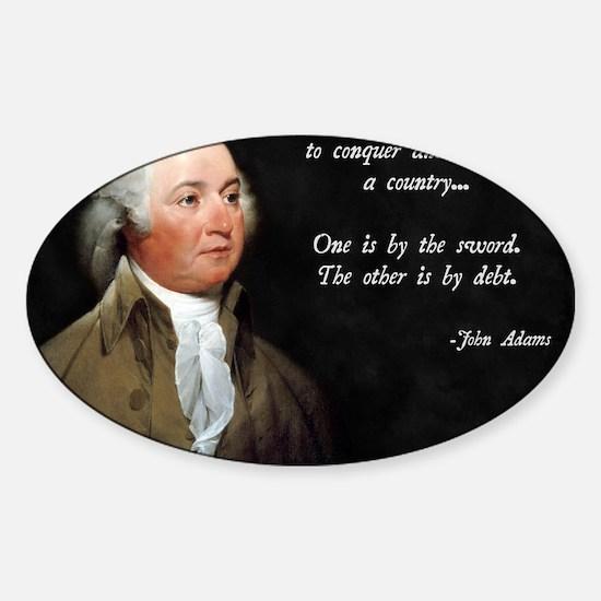 John Adams Sword and Debt Sticker (Oval)
