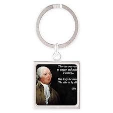 John Adams Sword and Debt Square Keychain