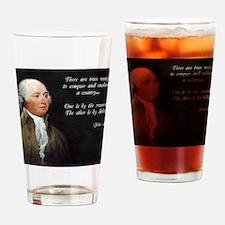 John Adams Sword and Debt Drinking Glass