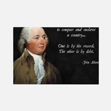 John Adams Sword and Debt Rectangle Magnet