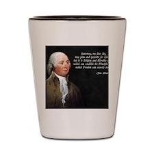 John Adams Religion and Morality Shot Glass