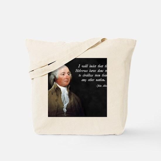 John Adams Israel Tote Bag