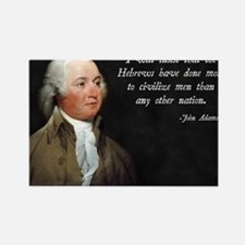 John Adams Israel Rectangle Magnet