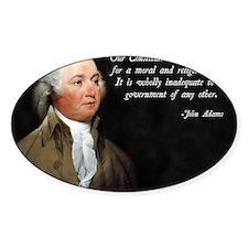 John Adams Religious Quote Decal