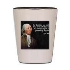John Adams Religious Quote Shot Glass