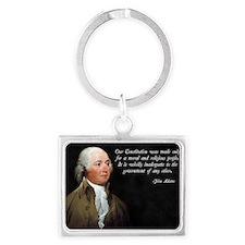 John Adams Religious Quote Landscape Keychain