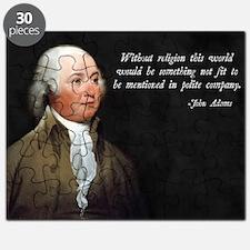 John Adams Religion Quote Puzzle