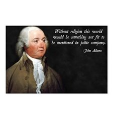 John Adams Religion Quote Postcards (Package of 8)