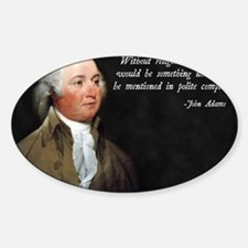 John Adams Religion Quote Decal