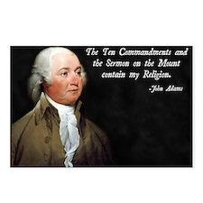 John Adams Religion Postcards (Package of 8)