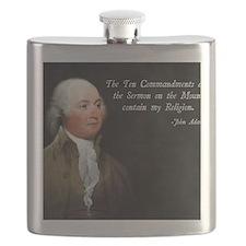 John Adams Religion Flask