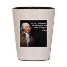 John Adams Religion Shot Glass