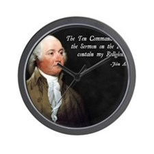 John Adams Religion Wall Clock