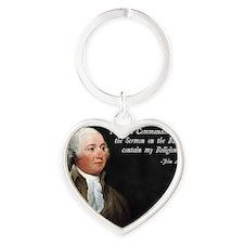 John Adams Religion Heart Keychain