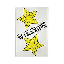 Glambert no trespassing! Rectangle Magnet